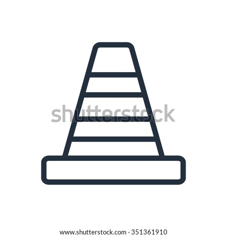 Traffic cone icon - stock vector