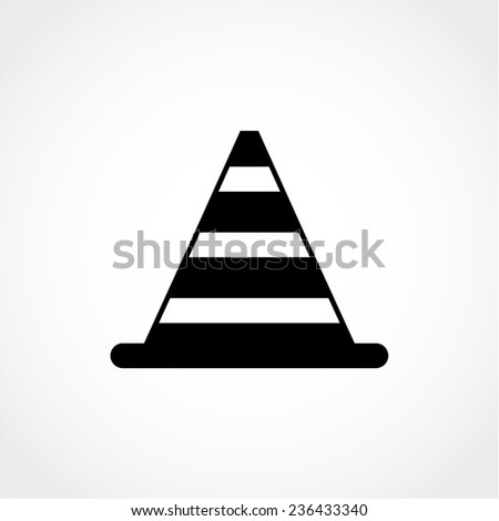 Traffic cone Icon Isolated on White Background - stock vector