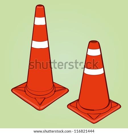 traffic cone vector - stock vector