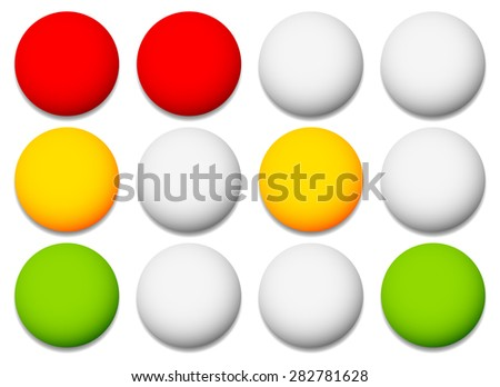 Traffic lamps, lights isolated on white. Control lights. Vector. - stock vector