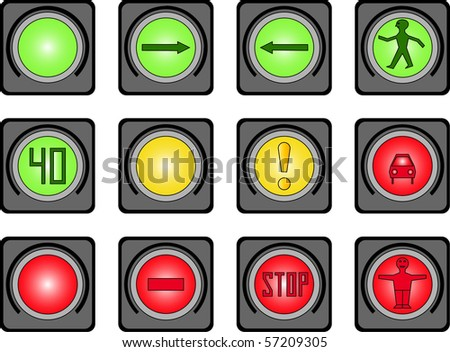 Traffic light for people - stock vector