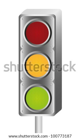 traffic light gray on white background, vector illustration