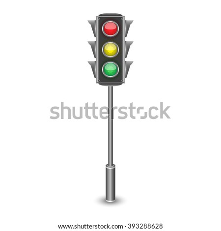 Traffic light icon logo. Traffic lights icon vector. Traffic light icon eps. Vector illustration