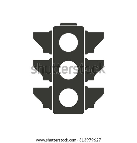 Traffic light  icon  on white background. Vector illustration.