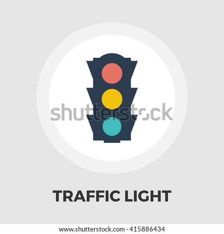 Traffic light icon vector. Flat icon isolated on the white background. Editable EPS file. Vector illustration. - stock vector