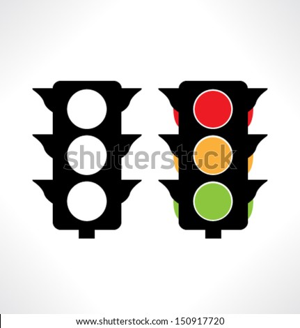 Traffic light icons. Vector. - stock vector