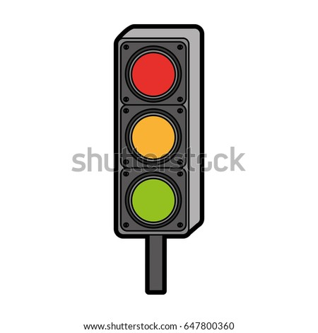 traffic light isolated icon