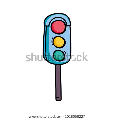 traffic light object to urban caution