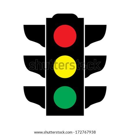 Traffic light signal - Vector icon - stock vector