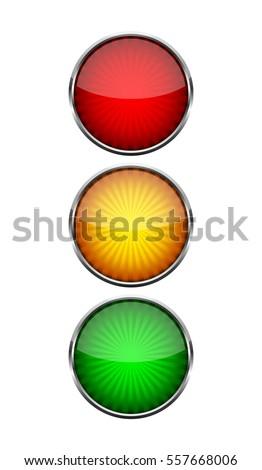 Traffic Light Symbol On Light Background Stock Photo Photo Vector