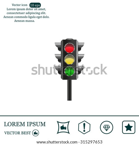 Traffic light, vector