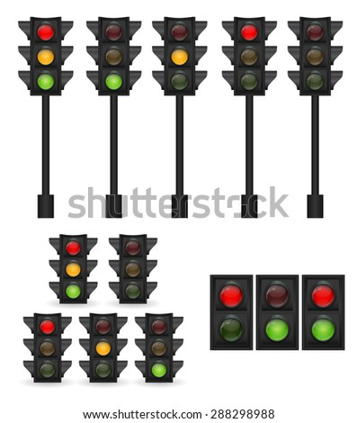 Traffic Light Vector Illustration EPS10 - stock vector