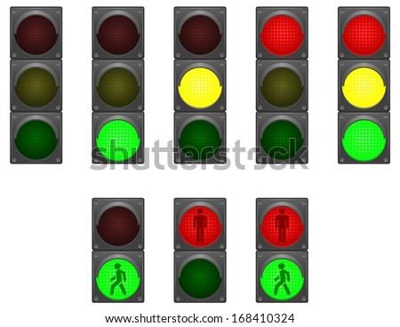 Traffic lights - stock vector
