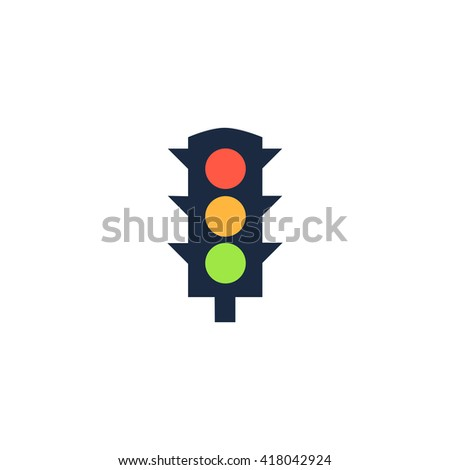 Traffic lights Simple flat vector icon - stock vector