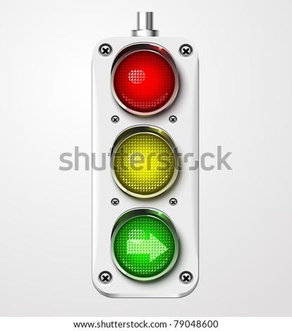Traffic lights vector detailed - stock vector