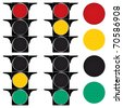Traffic lights. Vector illustration. - stock vector