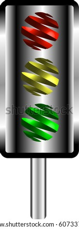 Traffic lights with abstract swirl lights illustration vector - stock vector