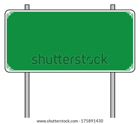 traffic road sign (street sign, road sign) - stock vector