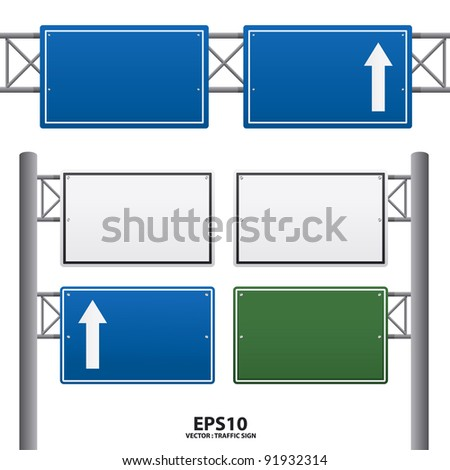 traffic sign blue color vector - stock vector