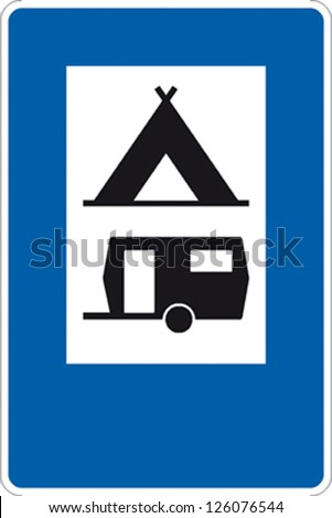 traffic sign camping