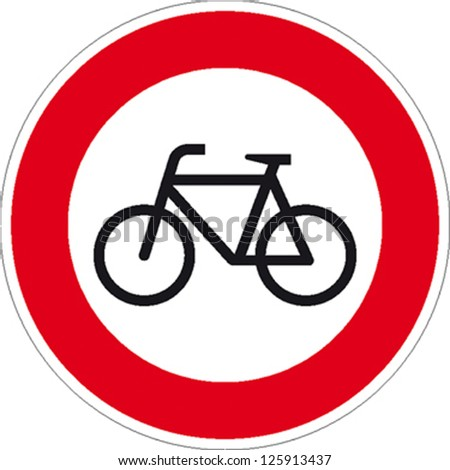 traffic sign forbidden entrance bicycle