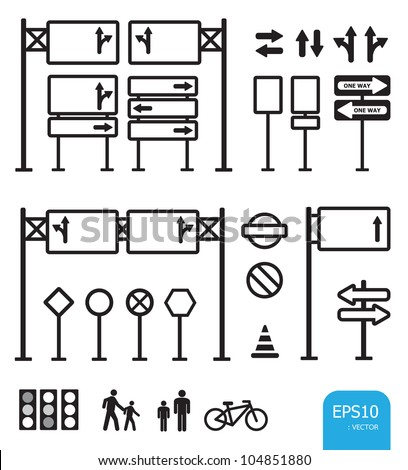traffic sign icon vector - stock vector