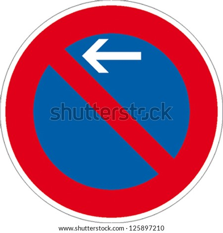 traffic sign no parking zone
