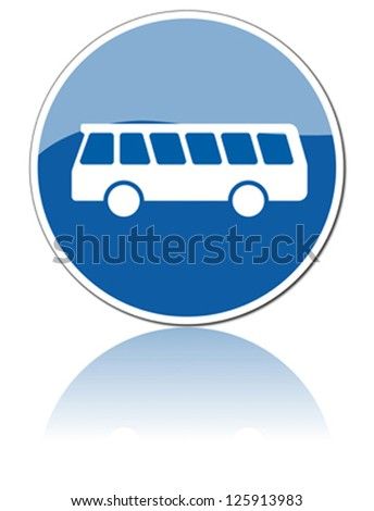 traffic sign parking for buses