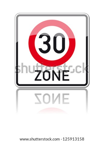traffic sign speed limit area