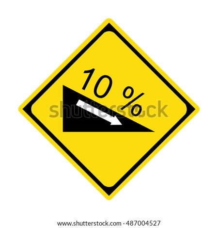 Traffic sign steep descent (10%)