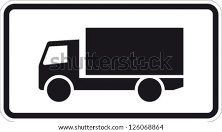 traffic sign truck