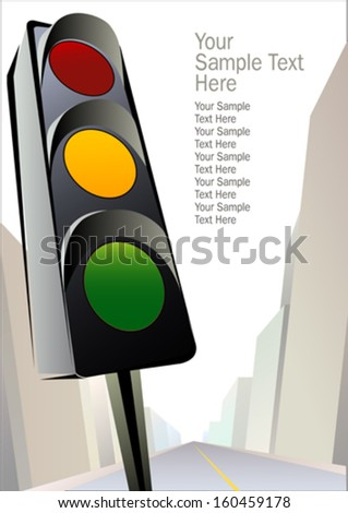Traffic Signal - Get ready - stock vector