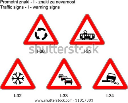 Traffic signs on slovene roads - Prometni znaki na slovenskih cestah