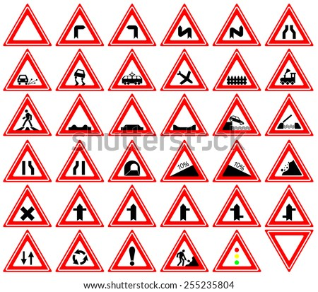 Traffic signs - Warnings