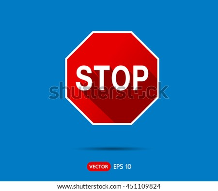 traffic stop sign icon logo vector stock vector 461884138