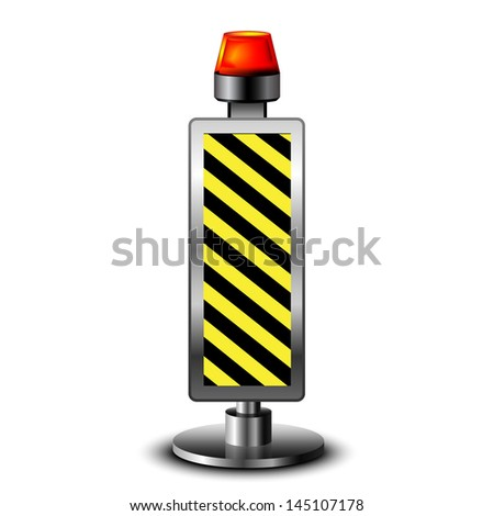 traffic works - Vertical Panel Channelizer - stock vector