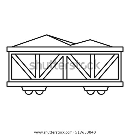 Train cargo wagon icon. Outline illustration of cargo wagon vector icon for web design