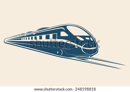 TRAIN flat design illustration vector - stock vector