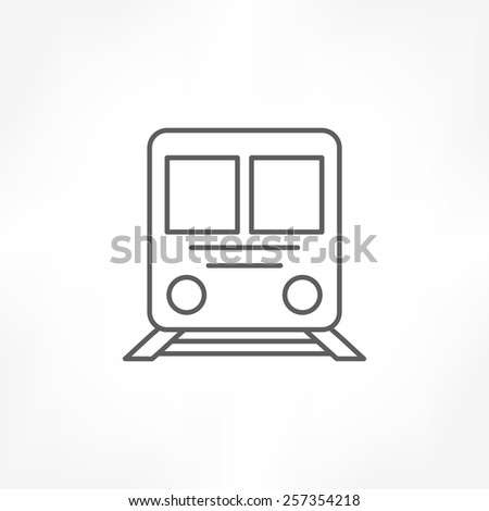 train icon - stock vector