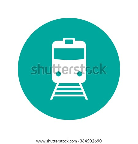 Train icon, isolated vector eps 10 illustration - stock vector