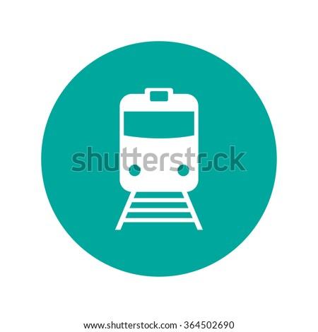 Train icon, isolated vector eps 10 illustration - stock vector