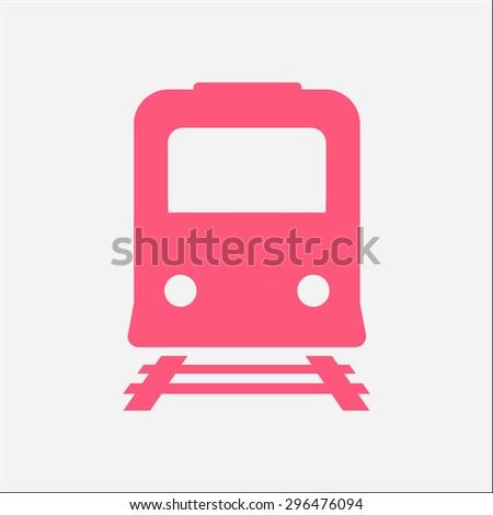 Train icon. Metro symbol. Railway station sign. - stock vector