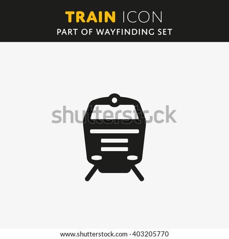 Train icon. Railway Sign. Transport symbol Vector illustration - stock vector