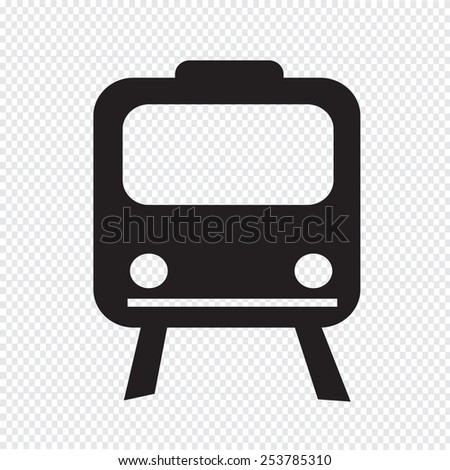 Train Icon ,  train,  transportation icon - stock vector