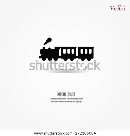 Train icon.train.vector illustration.     - stock vector