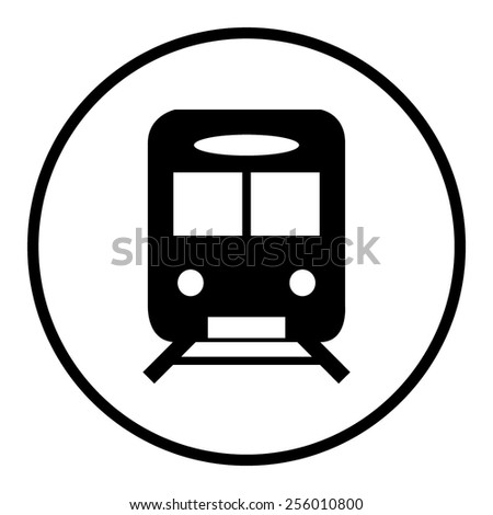 Train icon vector - stock vector