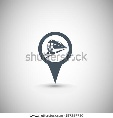 train location icon for maps  - stock vector