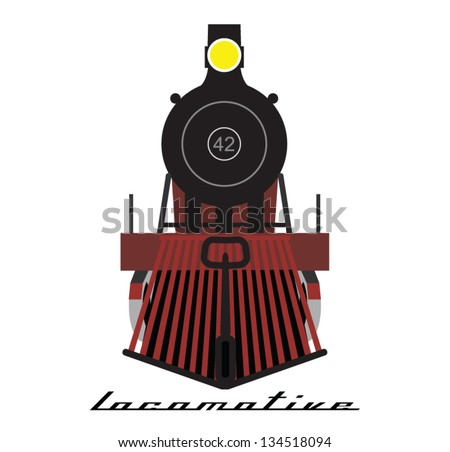 Train locomotive vector - stock vector