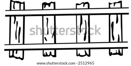 train rails - stock vector