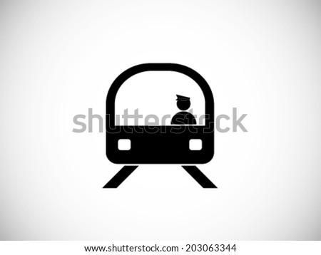 Train Simple Icon - stock vector